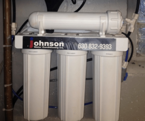 Reverse osmosis system at a house in Schaumburg, Illinois