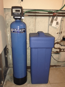 Water softening system at a house in Warrenville, Illinois