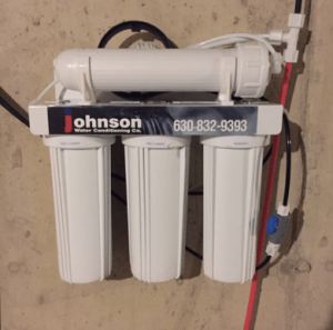 Reverse osmosis system at a house in Kildeer, Illinois