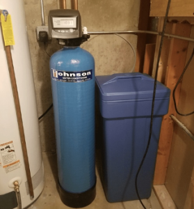 Water softener system at a house in Bensenville, Illinois
