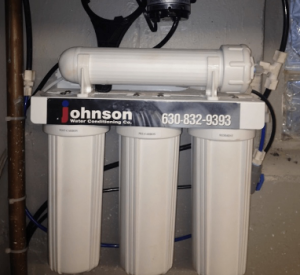 Reverse osmosis system at a house in Naperville, Illinois
