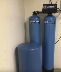 Water softening system at a house in Downers Grove, Illinois