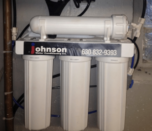 Reverse osmosis system in a house in Lisle, Illinois