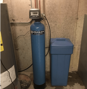 Water softening system at a house in Des Plaines, Illinois