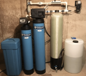 Chlorine injection system at a house in Batavia, Illinois