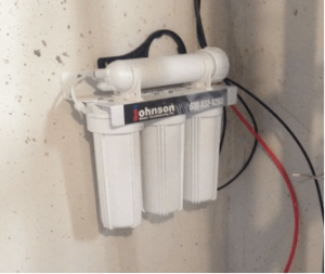 Reverse osmosis system at a house in Inverness, Illinois