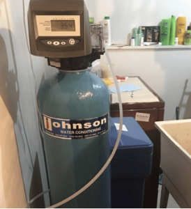 Water softening system in a house in West Chicago, Illinois
