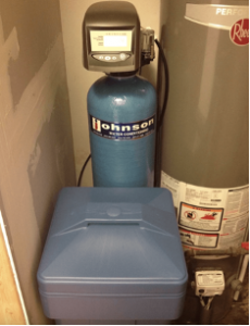 Water softening system at a house in Campton Hills, Illinois