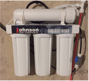 Reverse osmosis system at a house in Itasca, Illinois