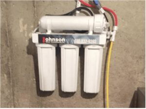 Reverse osmosis system at a house in Bensenville, Illinois