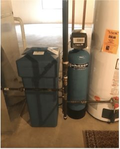 Water softening system in a house in Addison, Illinois