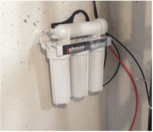 Reverse osmosis system at a house in East Dundee, Illinois