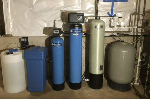 Water conditioning systems at a house in West Dundee, Illinois