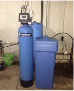 Water softening system at a house in Wood Dale, Illinois
