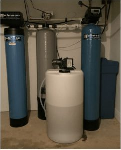 Water softening system at a house in Mundelein, Illinois