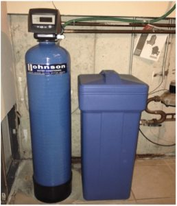 Water softening system at a house in Romeoville, Illinois