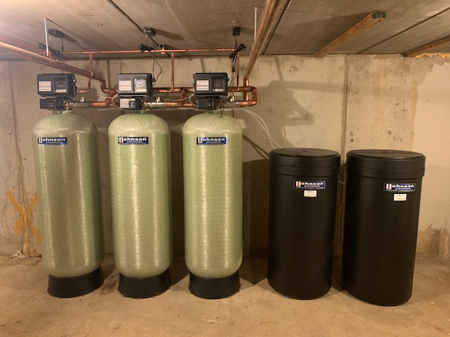 Commercial water softener installation