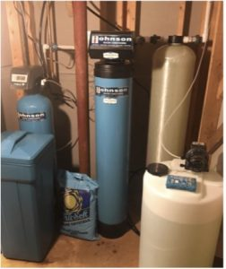 Water softening system at a house in Fox River Grove, Illinois