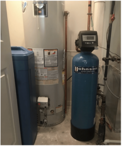 Water softener at a house in Manhattan, Illinois