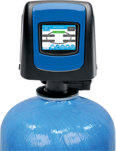 Pentair water softener at a house in Glen Ellyn, Illinois