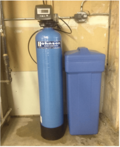 Pentair water softener at a house in Homer Glen, Illinois